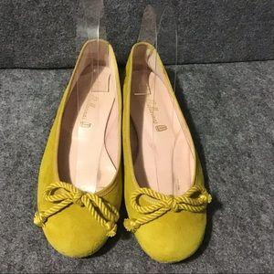 💖 Pretty Ballerinas Mustard Yellow Ballet Flats